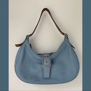 Coach baby blue leather bag